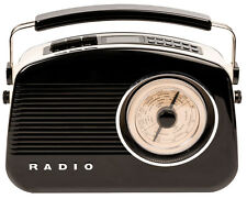 Tragbares Retro Digitalradio in Schwarz mit DAB+ Technologie / HAV-TR900BL