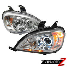 *Metallic Chrome* 98-05 Mercedes Benz W163 Halo Projector Headlights W/Amber