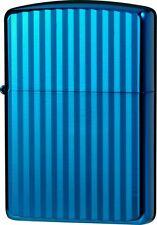 ZIPPO Lighter Titanium Coating AQUA Blue Double Side Designed 62RIBL-RIP ARMOR
