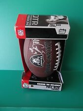 Raiders Full Size Football with Kicking Tee Included Signed Jeff Gosset