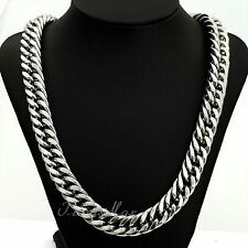 "32"" 18K Men's Luxury White Gold Chain Necklace Boyfriend Birthday Valentine Gift"