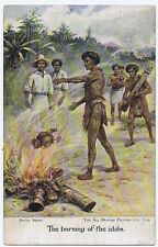 BURNING OF THE IDOLS Life in South Seas & Papua, Vintage Ethnic Postcard