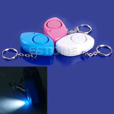 Mini Personal 120dB Security Alarm Siren Light Keychain