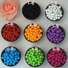 Pastel Color Acrylic Round Beads Smooth Ball Spacer 4mm 6mm 8mm 10mm 12mm