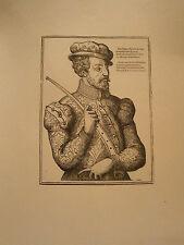 Planche gravure musique  Moyen age Un concert Chef d'orchestre 1570