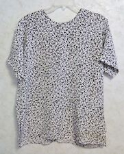Prestige Business Fashions Made in USA Ladies Blouse Short Dolman Sleeve Size 14