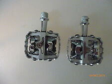 1 pair new road bike clip-in pedals welgo WPD-M8 without shoe plates