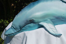 """Fish Blue Dolphin Giant Stuffed Plush 45"""" Silky Accessory Pillow Tree House Kids"""