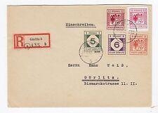Lokalausgaben Görlitz netter R-Brief mit MIF