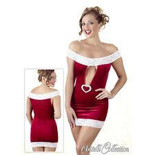 Mini abito Natale in velluto rosso con pizzo bianco Tg L - Biancheria intima