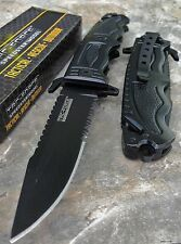 TAC FORCE Rescue BLACK SAWBACK Spring Assisted Tactical Pocket Folding Knife NEW