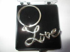 SEX AND THE CITY LOVE  KEYRING SATC CHROME PLATE -FREE PRESENTATION BOX K02B