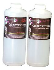 CLEAR EPOXY RESIN CASTING COATING SEALING CURES CRYSTAL CLEAR - 64 oz