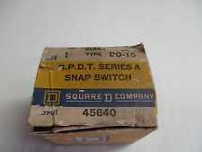 Square D 9007-DO-15 Series A Snap Switch
