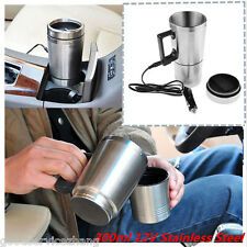 12V Stainless Steel Travel Heated Thermos Coffee Mug Cup With Car Charger 300ml
