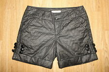 "Sexy Black Quilted Material FORTUNA Biker Clubwear Hot Pants Shorts W 29"" L 5"""