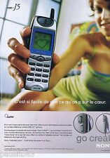 PUBLICITE ADVERTISING 115 2001 Sony téléphone le cmd-j5g