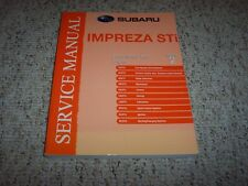 2010 Subaru Impreza STI Engine Service Repair Manual WRX Turbo 2.5GT Limited