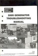 HONDA GENERATORS TROUBLESHOOTING MANUAL 2009 TO103 PSV52522-K