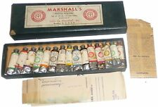 Marshall's Transparent Permanent Photo Oil Colors Vintage Camera Developing Kit
