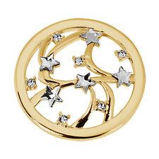 Quoins QMOK-22L-G-CC large Global Stars Münzen Damen mit weißen Steinen neu