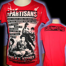 THE PARTISANS 100% UNIQUE PUNK  LADIES T SHIRT LARGE BAD CLOWN CLOTHING