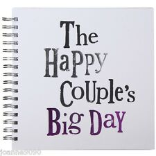 THE BRIGHT SIDE THE HAPPY COUPLES BIG DAY WEDDING GUEST MEMORY BOOK JOURNAL GIFT