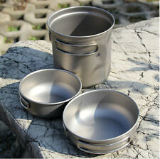Keith Titanium Outdoor Camping Cook Picnic Pot Bowl Cookware Backpack Set Ti6052