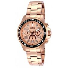 14393 Invicta Men's Chrono Rose Gold Dial Stainless Steel Date New Watch
