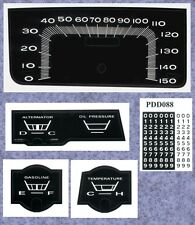 Premium Dash Decal 1966-67 Satellite Belvedere GTX 150 MPH 6667PB07