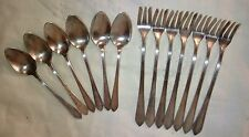 W.M. ROGERS & SON AA IS DEMI- FORKS and SPOONS (13) SILVER PLATE 1923