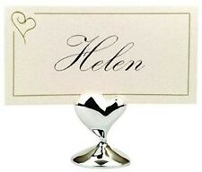 Silver Love Heart Wedding Engagement Name Place Card Stand bomboniere favor gift