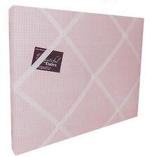 Pink gingham couvert, rembourrée, boîte encadrée, memo/message/pin/invitation board