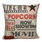 Live Letters Cotton Linen Pillow Case Throw Home Sofa Waist Cushion Cover