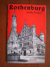Rothenburg on the Tauber Guide Book circa 1975 - 2-color cover, B&W inside