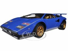LAMBORGHINI COUNTACH WALTER WOLF EDITION BLUE 1/18 MODEL CAR BY AUTOART 74652