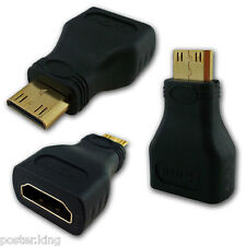 Mini HDMI Male Type C to Female Type A Adapter Connector for 1080p 3D TV HDTV
