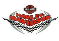 Harley Davidson race finish flag wing sticker 15x10 Racing checkered wing hd