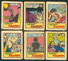 6 Vintage EXOTIC TOTOY MAGNUM Philippine TEKS / Trading Comic Cards 6