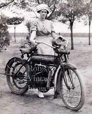 Flying Merkel Motorcycle photo1910 LAdy oin Sunday best Milwaukee Iron