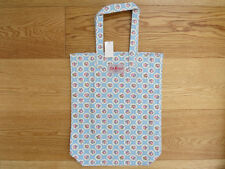 Cath Kidston Shopping Bag  Light Blue With Delicate Flower Grid Pattern