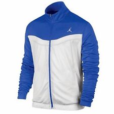 NEW NIKE JORDAN PRIME FLY BASKETBALL DRI-FIT BLUE WHITE COATS TRACK JACKETS M