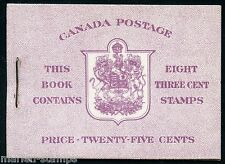 CANADA COMPLETE UNEXPLODED BOOKLET STANLEY GIBBONS #SB47 MINT NH STAMPS