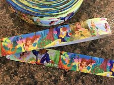 "1 Meter Of BEAUTY AND THE BEAST 1"" Wide Grosgrain Ribbon"