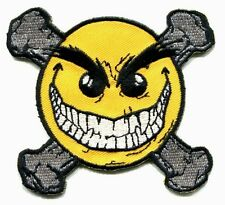 EVIL ERNIE happy face crossbones IRON-ON PATCH Free Shipping chaos comics smiley