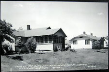 PELICAN RAPIDS MN ~ 1940's CABINS AT OUTLOOK BEACH RESORT ~ Real Photo PC  RPPC