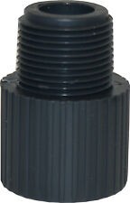 "NEW  SCH 80 PVC 2"" MALE ADAPTER SOCKET X MALE NPT THREAD NEW SCH 80 PVC"
