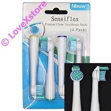 4 X Tooth Brush Heads Replacement Philips Sonicare Sensiflex HX1610 HX1620/1630