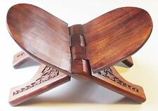 Large Beautiful Carved Rosewood Bible, Book Stand, 12 x 6.5""