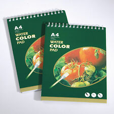 A4 WATERCOLOUR PAPER ARTIST PAINTING PAD 300gsm 12 SHEETS SPIRAL WIRO BOUND WPA4
